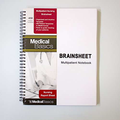 Amazon.com : Nursing Brain Sheet Multiple Patient Notebook - Nurse ...