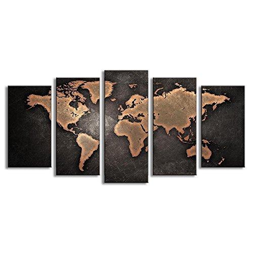 Delaman Cartel del mapa del mundo del arte de la pared de poster