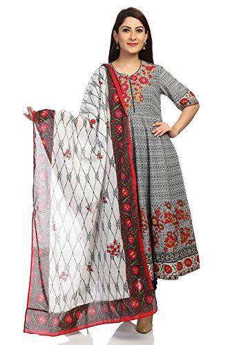 BIBA Black Anarkali Cotton Suit Set Size ()