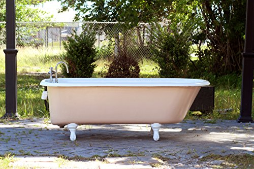 large-1919-refinished-55-clawfoot-bathtub-pastel-pink-cast-iron-antique-tub-package