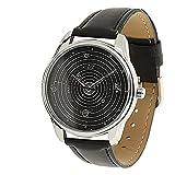 watch space - ZIZ Space Watch Unisex Wrist Watch, Quartz Analog Watch with Leather Band