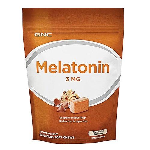 Soft Chews Chocolate (GNC Melatonin 3 MG - Chocolate Chip Cookie Dough 60 Soft)