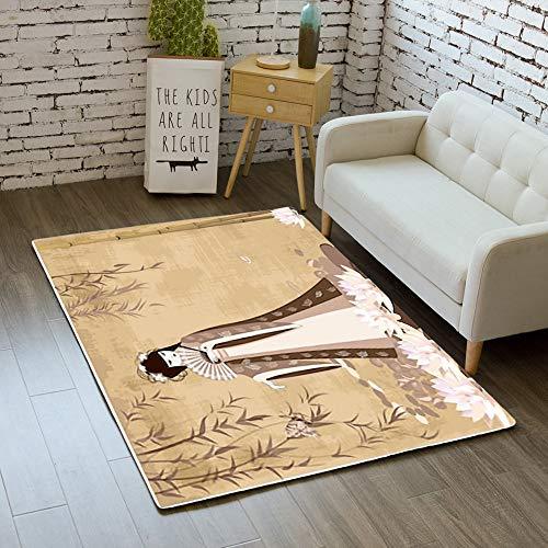 (iBathRugs Door Mat Indoor Area Rugs Living Room Carpets Home Decor Rug Bedroom Floor Mats,Chinese Girls Pond)