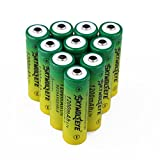 10 Pcs 3.7V 1200mAh 14500 AA Li-ion Battery Button Top Rechargeable Batteries for Camera Flashlight Torch Headlamp
