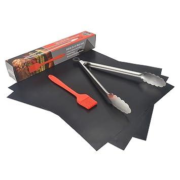 Juego de utensilios para barbacoa de KALREDE, 5piezas de acero inoxidable; espá