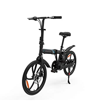 """SmartGyro Ebike City - Bicicleta Eléctrica, Ruedas de 20"""", Asistente al Pedaleo,"""