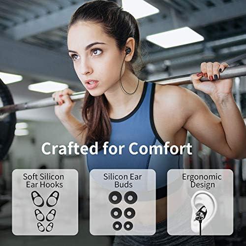 Ecouteur Bluetooth Sport, écouteur Sans Fil Bluetooth Stéréo Hi-Fi avec Microphone HD, Conception Magnétique, 8 Heures de Musique, Pour iPhone Huawei Xiaomi Samsung