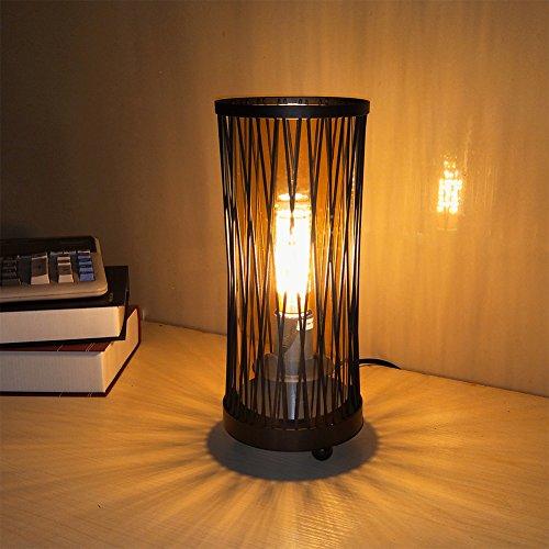 Hsyile KU300119 Retro Industrial Table Lamp, Creative Bedroom Bedside Lamp Personality Bar Cafe Desk Lamp 51vmEdoqsfL
