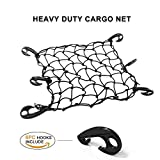 #9: LATIT Cargo Net, Elastic Bungee Cord Luggage Net, Stretches Mesh Net with 6 Adjustable-Placement ABS Hooks for Truck/Motorcycle/Bicycle/SUV/ATV - 16