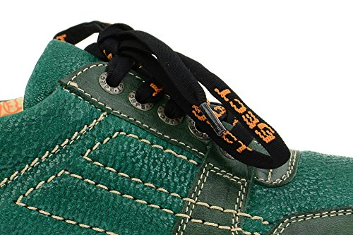 Eject17346 Mujer con Verde cordones zapatos 005 rRwHrB