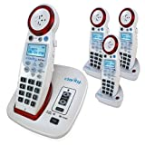 Clarity Clarity XLC3.4+ Hearing Loss Cordless Phone with 3 XLC3.6+HS Expandable Handsets