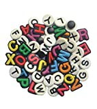 TWO SET OF LETTER SHOE CHARM FITS CROCS LETTER CLOG CHARMS ALPHABET SHOE CHARMS
