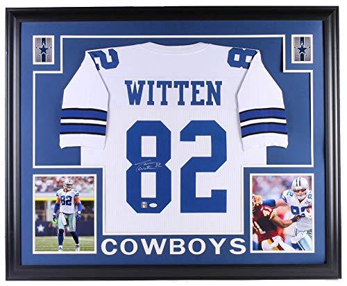 Jason Witten Autographed Signed Cowboys 35x43 Custom Framed Jersey (JSA COA & Witten Hologram) (Jason Witten Jerseys)
