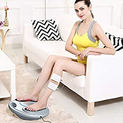 Foot Circulation Stimulator - Electrical Nerve Muscles Stimulation for Feet & Legs - Medic Electric Pulse Foot Massager Machine for Neuropathy Cramps Diabetic