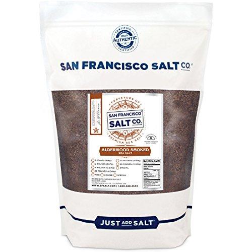 Alderwood Smoked Sea Salt (2lb Bag Coarse Grain) ()