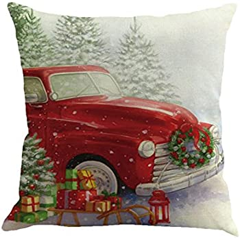 AmyDong Pillow Cases Square Pillowcase Home Decor Car Sofa Bed Cushion Cover (Multicolor E)