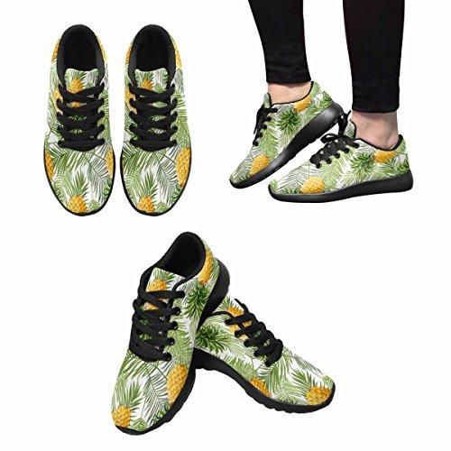 Interestprint Kvinners Trail Joggesko Jogging Lette Sportsgangatletisk Joggesko Tropiske Palmeblader Og Ananas Multi 1