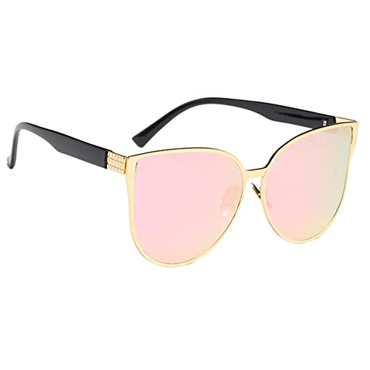 1be29cf538d Prettyia Retro Women Cat Eye Sunglasses Vintage Shades Oversized Designer  Glasses Eyewear - Pink