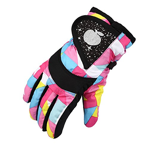 COFFLED Toddler Ski Insulated Waterproof &Windproof Gloves, Snowboard Thinsulate Snow Gloves for Cold (Alien Princess Costume)