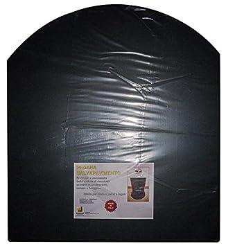 Plataforma protectora de pisos, color negro, para estufa de leña y pellets, de 80 x 90 cm.: Amazon.es: Jardín