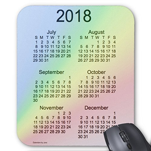 Zazzle 2018 Rainbow Large Print 6 Month Calendar By Janz Mouse Pad