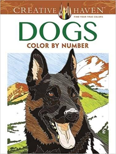 Amazon Creative Haven Dogs Color By Number Coloring Book Adult 9780486804477 Diego Jourdan Pereira Books