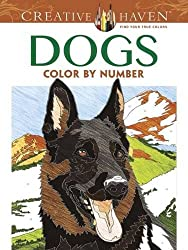 Creative Haven Dogs Color by Number Coloring Book (Adult Coloring)