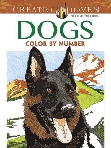 Creative Haven Dogs Color by Number Coloring Book (Creative Haven Coloring Books) ()