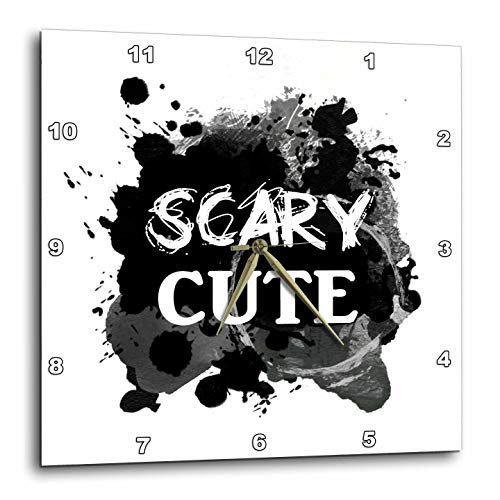 3dRose InspirationzStore - Occasions - Scary Cute - Funny Halloween Humor - Humorous So Sweet its Spooky - 10x10 Wall Clock (DPP_317322_1)]()