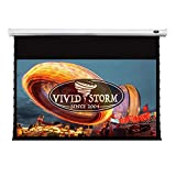 100 Inch Projector Screen - VIVIDSTORM 4K/3D/UHD Deluxe Tab-tensioned Screen,Electric Drop Down Projector Screen,100-inch Diagonal 16:9, with White V Cinema PVC Screen Material, Wireless 12V Projector Trigger,Model: V6JLW100H