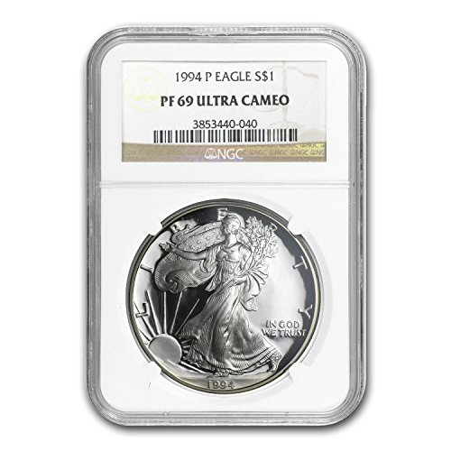 1994 P Proof Silver American Eagle PF-69 NGC Silver PR-69 NGC