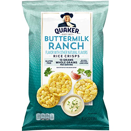 Quaker Rice Crisps, Buttermilk Ranch, 3.03 oz Bag