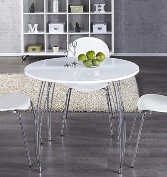 tavolo da pranzo tavolo compatto da cucina arron, bianco, rotondo ... - Tavolo Cucina Rotondo