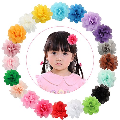 Acecharming Girls Hair Bow Cute Clip Toddler Barrette Headbands (20pcs flower)