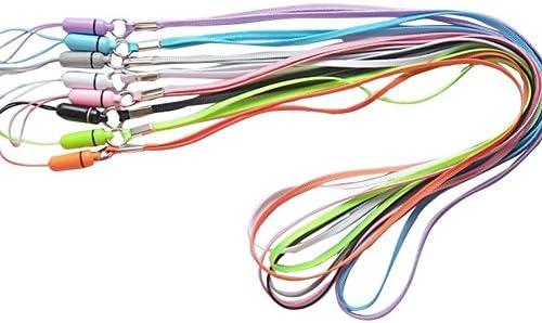 cosanter 12 unidades Llaveros de llave cinta schlusselband Lanyard para el cuello para tarjeta Huellen Identidad. Niños Tarjeta Fundas Funda Llave de ...