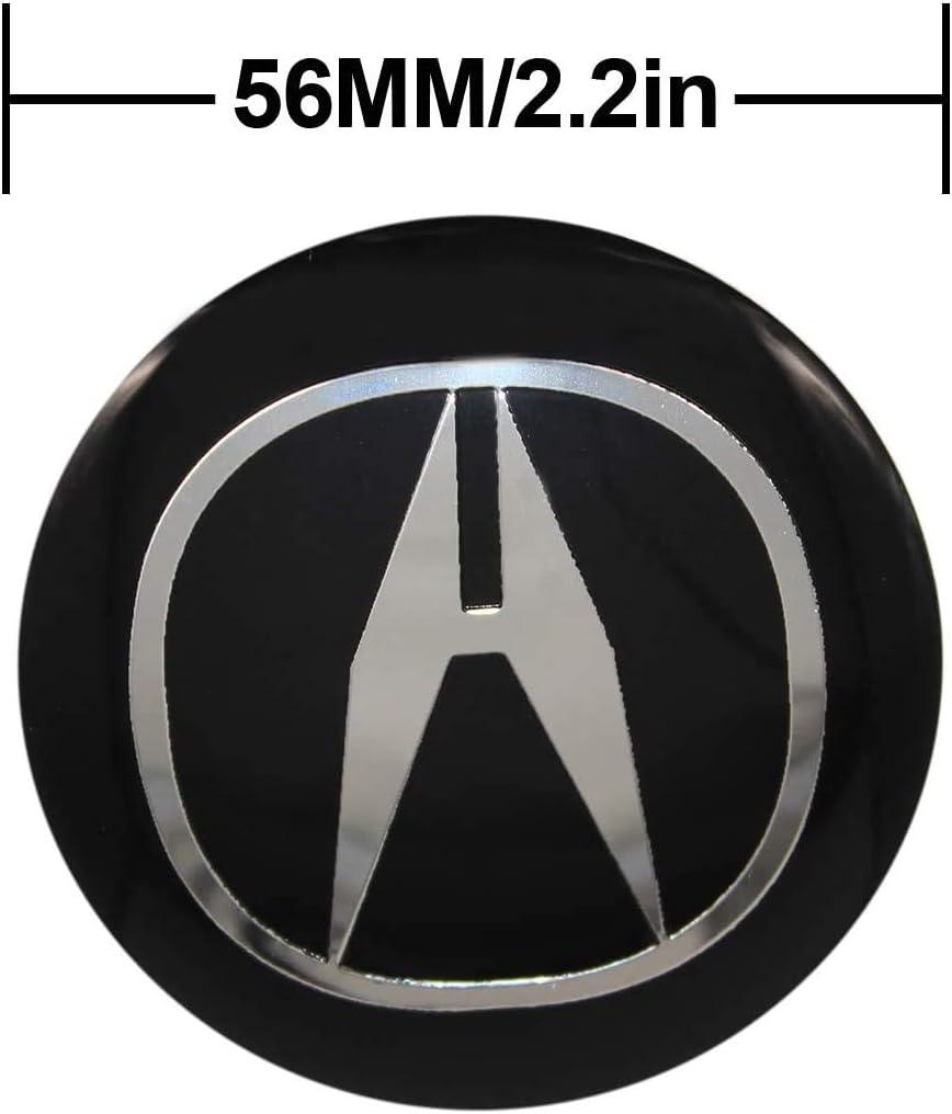 YUNMING Auto Parts 4 Pack Wheel Center Caps Emblem 56MM//2.22 Rim Hub Emblem Badge Sticker for fit Acura All Models