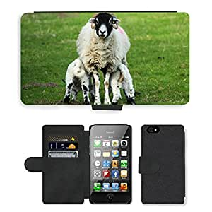 PU LEATHER case coque housse smartphone Flip bag Cover protection // M00129742 Agricultura Animal Campo Comer // Apple iPhone 4 4S 4G