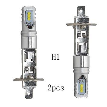 Bulbos Operando 2 Piezas de H1 6500K 160W LED de Alta Potencia del Coche Bombillas de los Faros de luz de Cruce Niebla Bombillas Super Brillante Auto: ...