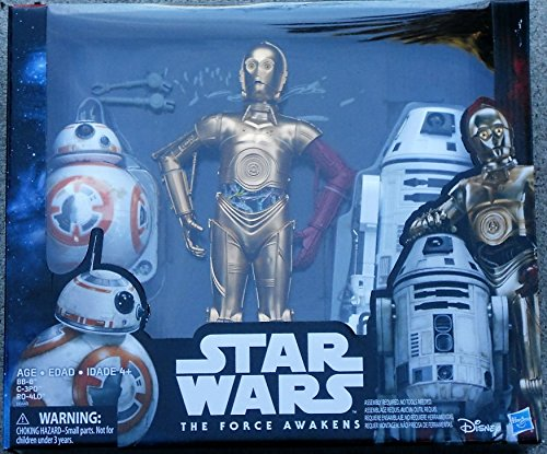 Star Wars The Force Awakens Droid Pack C-3PO BB-8 and RO-4LO Special Collectors Edition]()