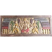 Antique Wall headbord Vintage Hand Carved Sitting Ganapati Bohemian Decor
