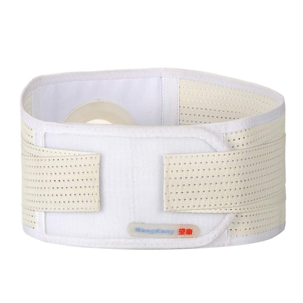 Ibnotuiy Medical Ostomy Hernia Belt Breathable Abdominal Binder Brace Abdomen Band Unisex Hernia Support Belt for Colostomy Patients 2.17 inch Hole (L)