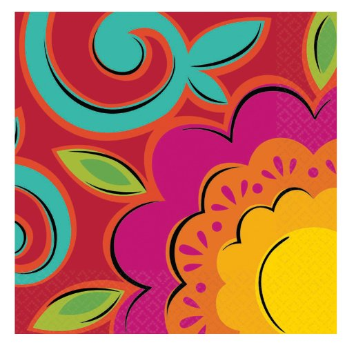 Costumes 203167 Caliente Flowers Beverage Napkins by Unknown