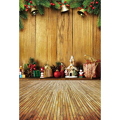 - Renaiss 3x5ft Vintage Interior Decor Photography Backdrop Rustic Wood Floor Christmas Ornaments Garland Gift Boxes Background Photo Studio Props Christmas New Year Festival Decor