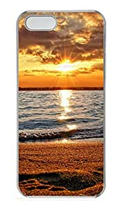 iPhone 5S Cases & Covers -Beach Sunset Custom PC Hard Case Cover for iPhone 5/5S ¨CTransparent