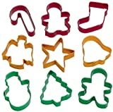 Wilton Holiday Cookie Cutters, Set of 9