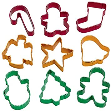 Amazon.com: Wilton Holiday Cookie Cutters, Set of 9: Christmas ...