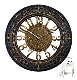 TiiKart Analog Golden & Wall Clock Finely Crafted In 18 Inch Diameter Standard Black