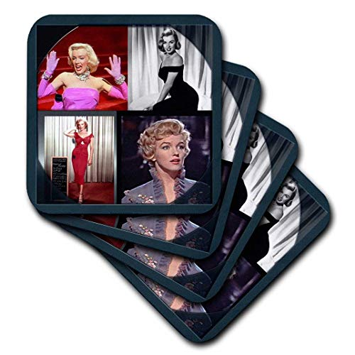3dRose CST_107180_2 Marilyn Monroe Collage Soft Coasters (Set of 8)