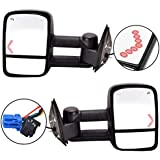 DEDC Chevy Towing Mirrors Chevrolet Silverado Side Mirror GMC Sierra Tow Mirrors Pair For 2003-2007 Power Heated With Arrow Signal Light