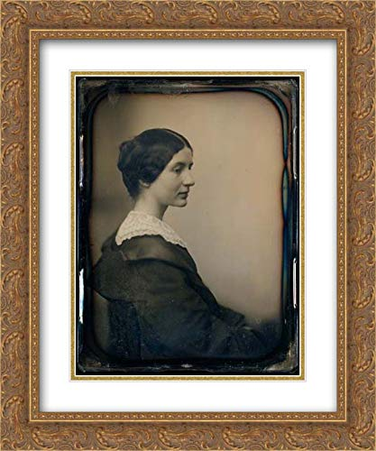 - Albert Sands Southworth - 20x24 Gold Ornate Frame and Double Matted Museum Art Print - Mrs. James Thomas Fields (Annie Adams)